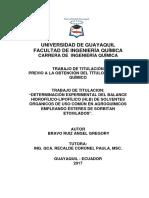 401-1276 - Balance Hidrofilico-lipofilico de Solventes Organicos
