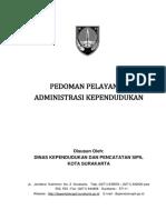 Buku Pedoman Pelayanan Administrasi Kependudukan Surakarta