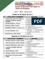 Lista Programacion Mayo (06 Al 17) 2013