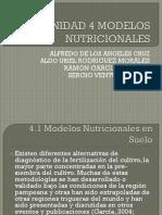 Unidad 4 Modelos Nutricionales