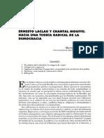 Hacia una teoria radical de la democracia Laclau reseña crítica.pdf