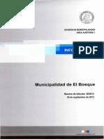 INFORME FINAL 20-13 - MUNICIPALIDAD DE EL BOSQUE - PROGRAMA DE ABASTECIMIENTO Y LEY N° 20.500 - SEPTIEMBRE 2013