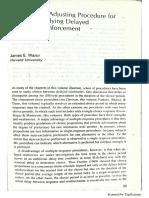 An Adjusting Procedure for Studyng Delayed Reinforcement