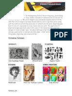 printmaking worksheet