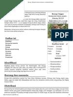 Burung - Wikipedia Bahasa Indonesia, Ensiklopedia Bebas