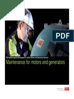 Maintenance for Motors and Generators TFjelldalen ABB