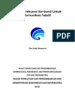 Kajian Frekuensi Ka-band Untuk Komunikasi Satelit