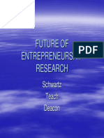 Future of Entrepreneurship Research