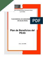 Plan Esencial de Aseguramiento en Salud, PEAS, Ley 29344 Marco de Aseguramiento Universal en Salud