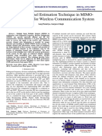 Adaptive Channel Estimation Technique in MIMO-OFDM System for Wireless Communication System