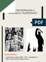 Postmodernizam u Hrvatskoj Književnosti