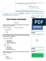 Software Engineer Test Online Mcqs - Solve Mcqs Online