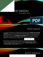 Presentation on mac unit design