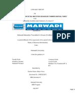 Quantitative Analysis of Retail Investors Behaviour Towards Mutual Fund_Final