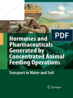 Hormones and Pharmaceuticals Generated by Concentrated Animal Feeding Operations, Transport in Water and Soil