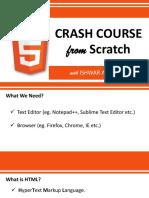 HTML 5 Crash Course