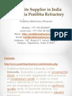 Dolomite Supplier in India Indonesia Pratibha Refractory