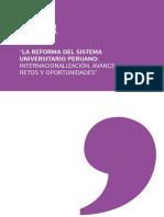La Reforma Del Sistema Universitario Peruano - Internacionalizacion Avance Retos y Oportunidades