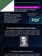 Expo Control Estadístico de Procesos y Garantía de Calidad