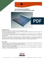 Colectores Solares Tubos de Vacio Heat Pipe