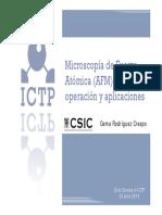 Microscopía de Fuerza Atómica (AFM), Modos de Operación y Aplicaciones