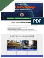AGIS JAYA Signage - Spesialis Huruf Timbul Murah Di Jakarta