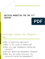 CHAPTER 1- Defining Marketing