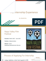 internship presentation - napa valley film festival
