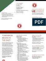 University of the East Graduate School Brochure Apr2018