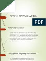 Sistem Formularium