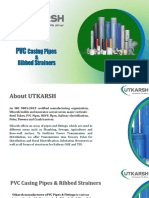 PVC Casing Pipes& Ribbed Strainers