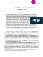 1-The Analysis of Dimensionless Magnitudes in Economic Science