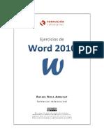 Ejercicios de Word 2010 - MUESTRA