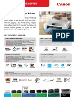 Pixma Home - Mg5765 Tech Sheet