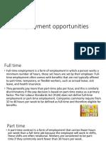 employment opportunities update