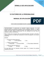 Cuadernillo de Aplicación 16 Pf