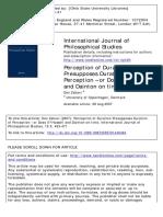 International Journal of Philosophical Studies Volume 15 Issue 3 2007 [Doi 10.1080%2F09672550701445464] Zahavi, Dan -- Perception of Duration Presupposes Duration of Perception – or Does It_ Husserl A