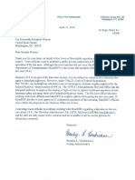 Federal Highway Administration Acting Administrator Brandye Hendrickson's letter  to U.S. Sen. Elizabeth Warren