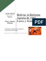 La Reforma Agraria Bolivia