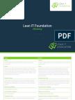 LITA Lean IT Foundation Glossary - SPANISH