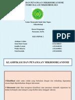 Klasifikasi Dan Penamaan Mikroorganisme