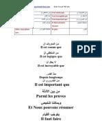 جمل تستعمل في كتابة الإنشاءات وتحرير النصوص باللغة الفرنسية مترجمة للعربية (المجموعة 1) تحميل الدرس كاملا