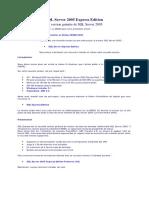 0294 Formation SQL Server 2005 Express Edition