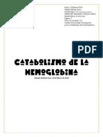 Catabolismo de La Hemoglobina