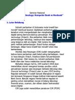 Proposal Seminar Fintech Update 2018