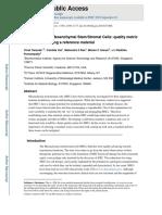 MSC Quality Metric Cytotherapy