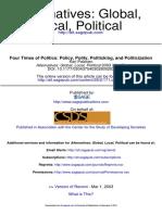 Kari Palonen 2003 Four Times Politics