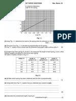 Deformation Past Paper Questions