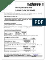Dew Diesel Cold Flow Improver Teknik Bülten