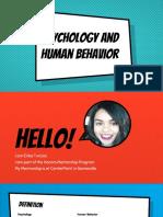 psychology and human behavior